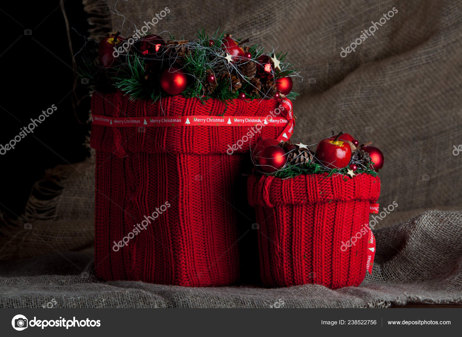 Decorative t box Christmas t boxes Valentine t Christmas presents on dark background