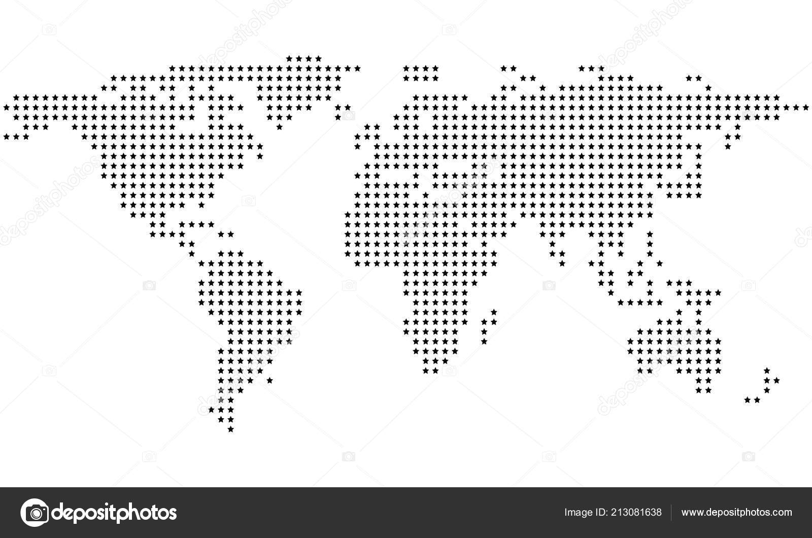 Dotted Stars Abstract World Map Stock Vector C Exclusivelly 213081638