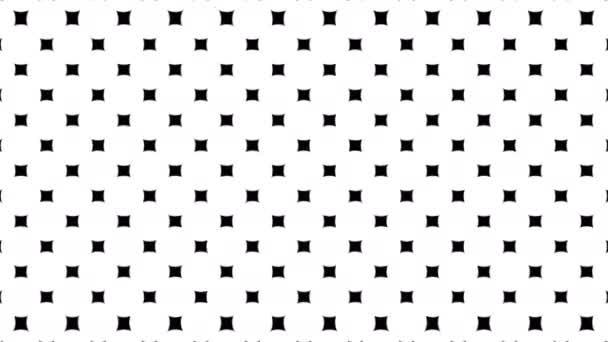 Dinamikus fekete-fehér pontok méretezés zeneszerzést. 4 k animációs csomag egy fekete-fehér háttér. Varrat nélküli hurok