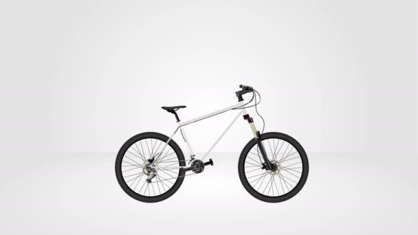 MTB Mountainbike Animation nahtlose Schleife, 3D-Rendering