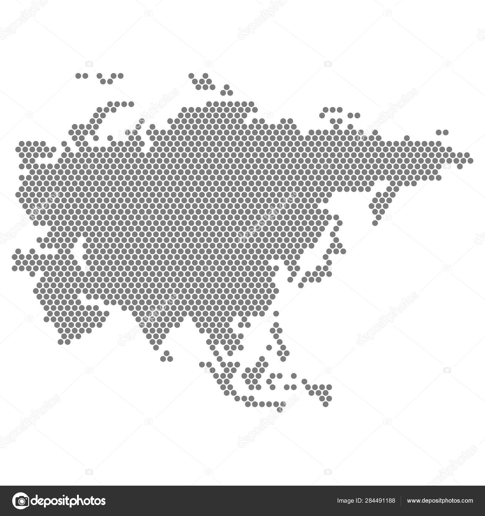 Map Of Asia Vector.Dotted Map Of Asia Vector Eps 10 Stock Vector C Exclusivelly