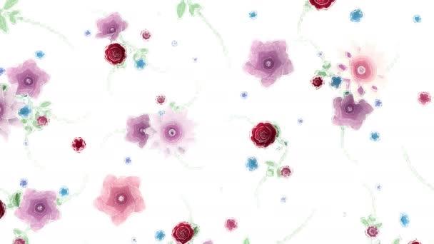 Akvarell rajz virágok növekvő, megjelenő, botanikai háttér, teljes képkocka, akvarell stílusú rajzfilm, fehér háttér, ökológiai természet Florisztikai stílus