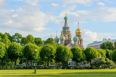 Church of the Savior on Spilled Blood, summer time, Saint-Petersburg