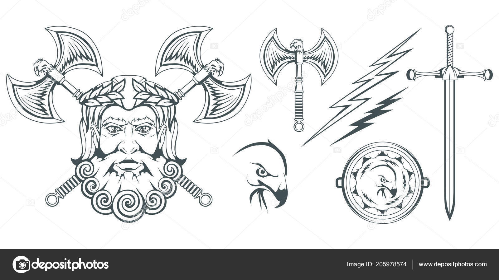 Zeus Ancient Greek God Heaven Thunder Lightning Greek