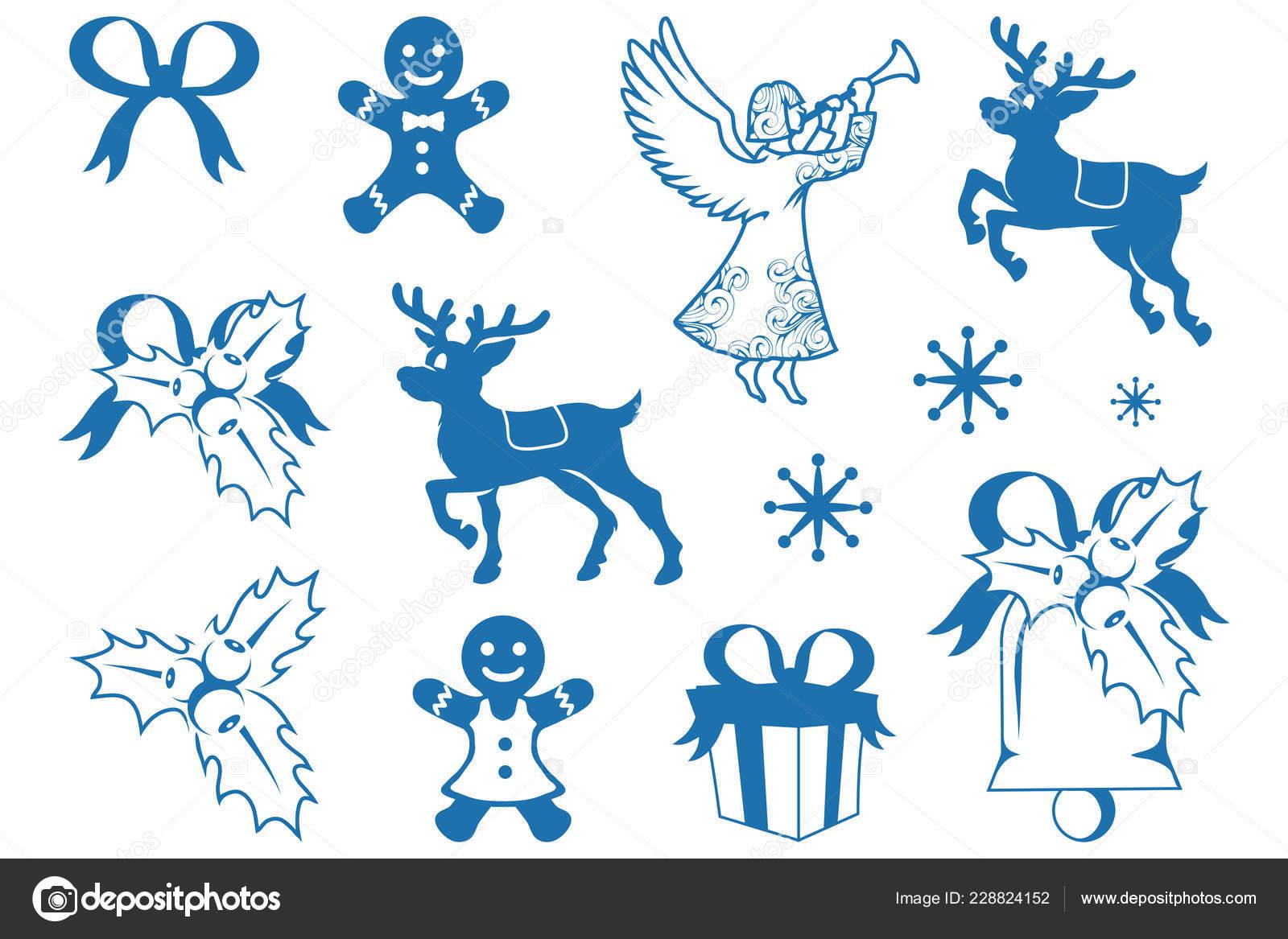 świąteczne Dekoracje Białym Tle Nowy Rok Wakacje Dekorację