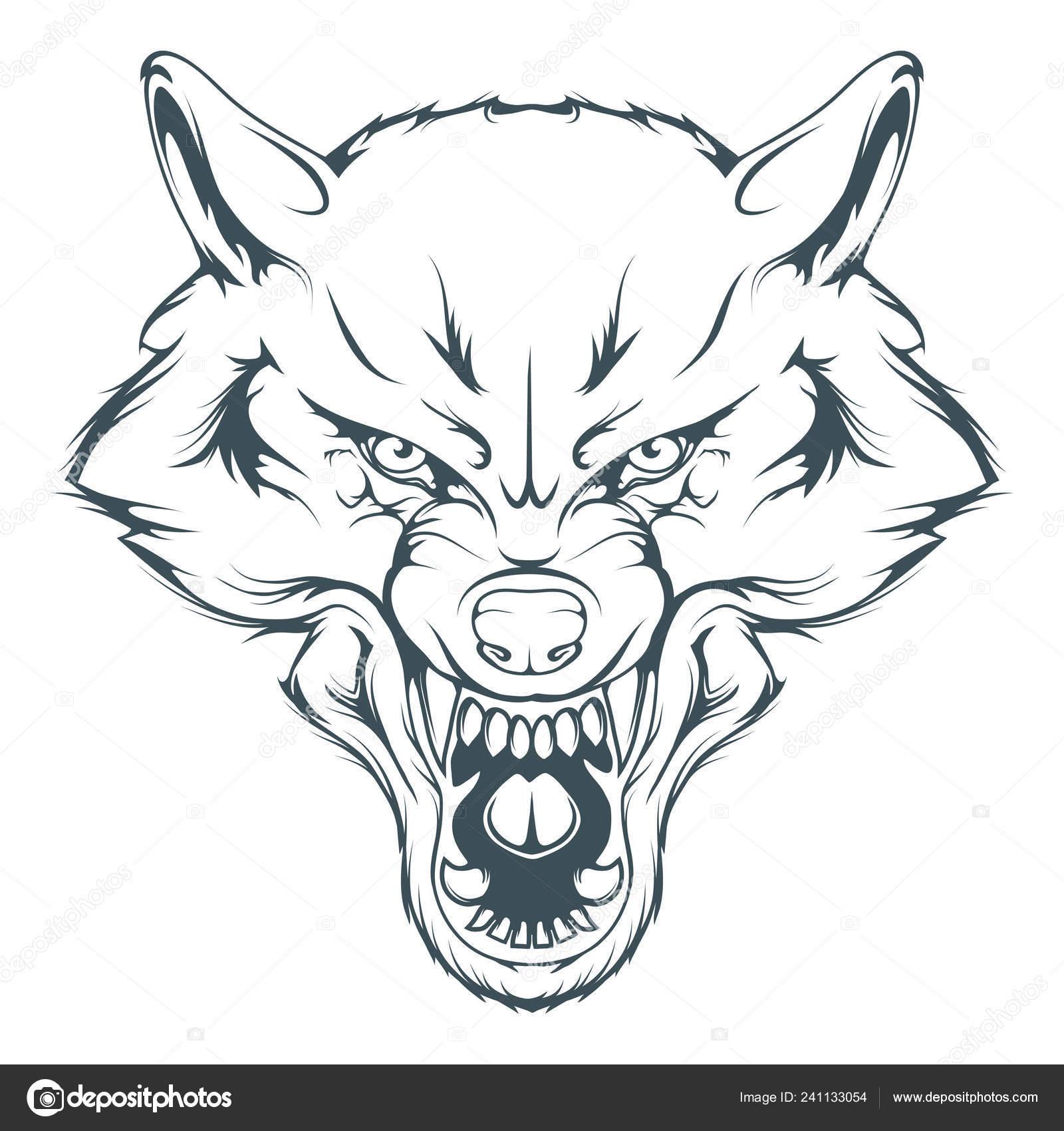 Vlci Hlava Vektorove Kresleni Nacrtu Vykresu Tvar Vlk Vlci Hlava