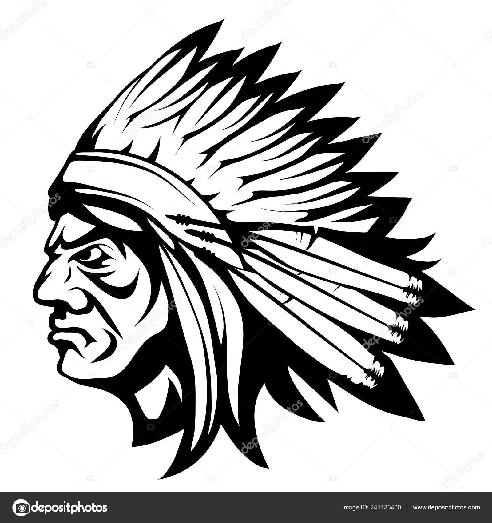 American Indian Chief Indian Face Drawing Sketch Indian Chief Head