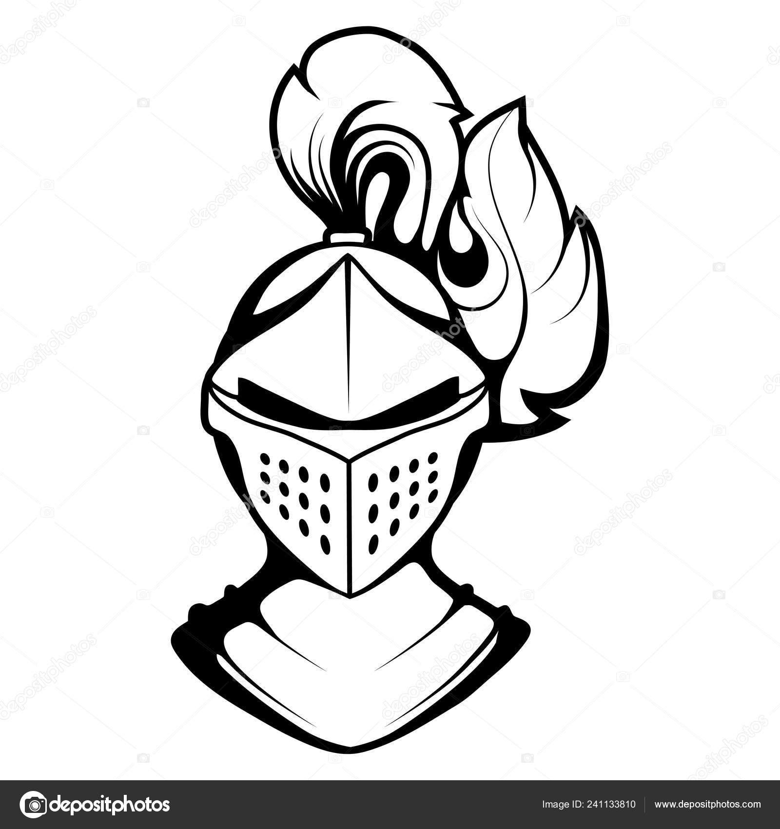 Chevalier Dessin Vectoriel Tête Croquis Dessin Visage