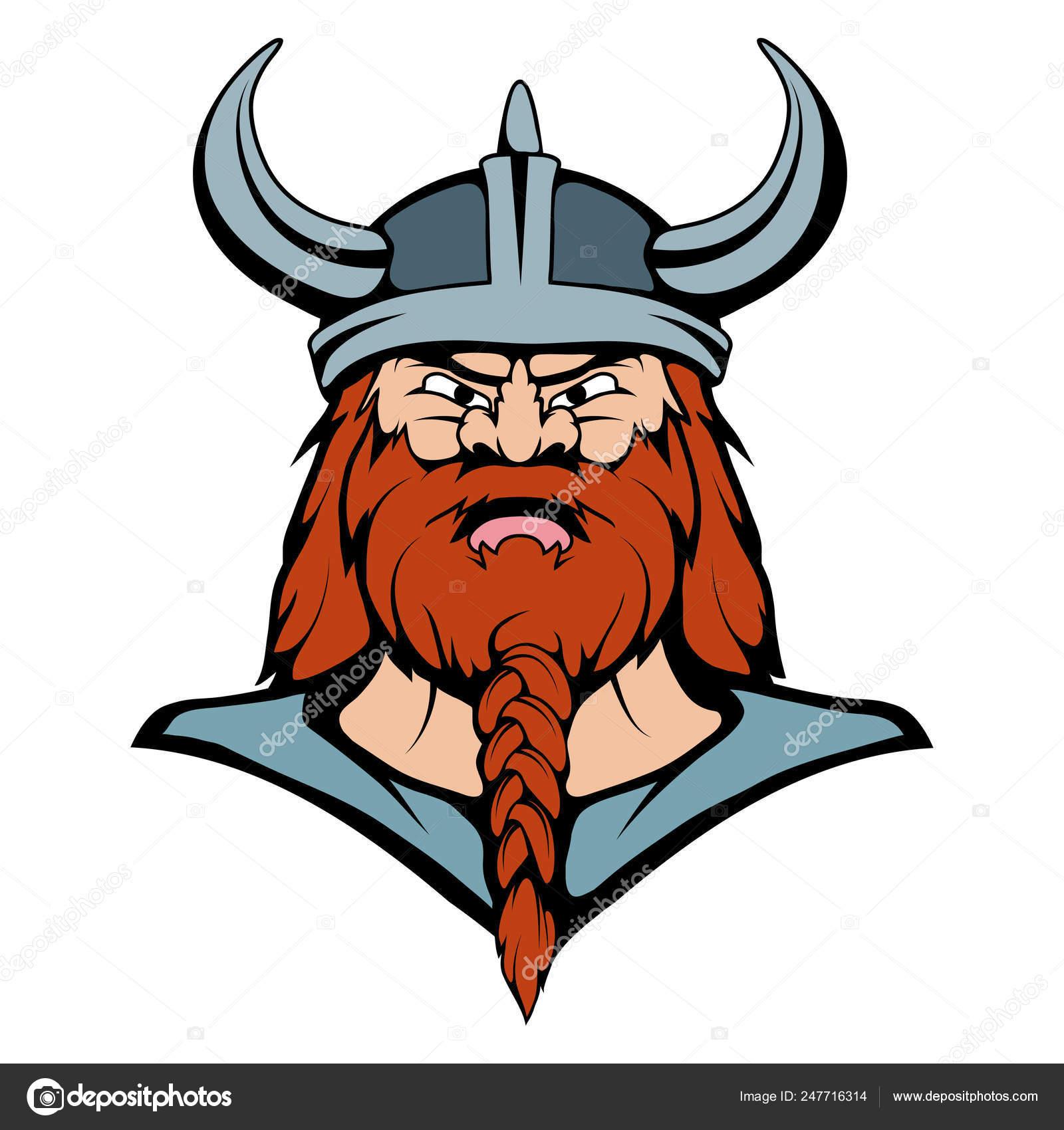 Viking Mascot Graphic, viking head suitable as logo for team