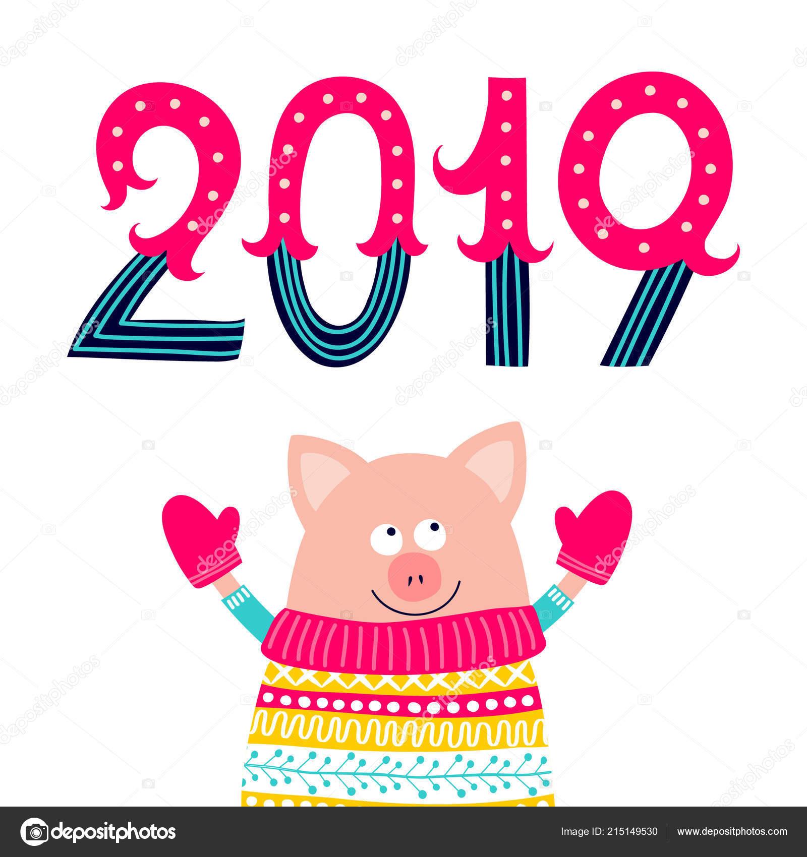 Le célèbre Personnage Dessin Animé Cochon Mitaines Avec Numéros 2019 #WC_88