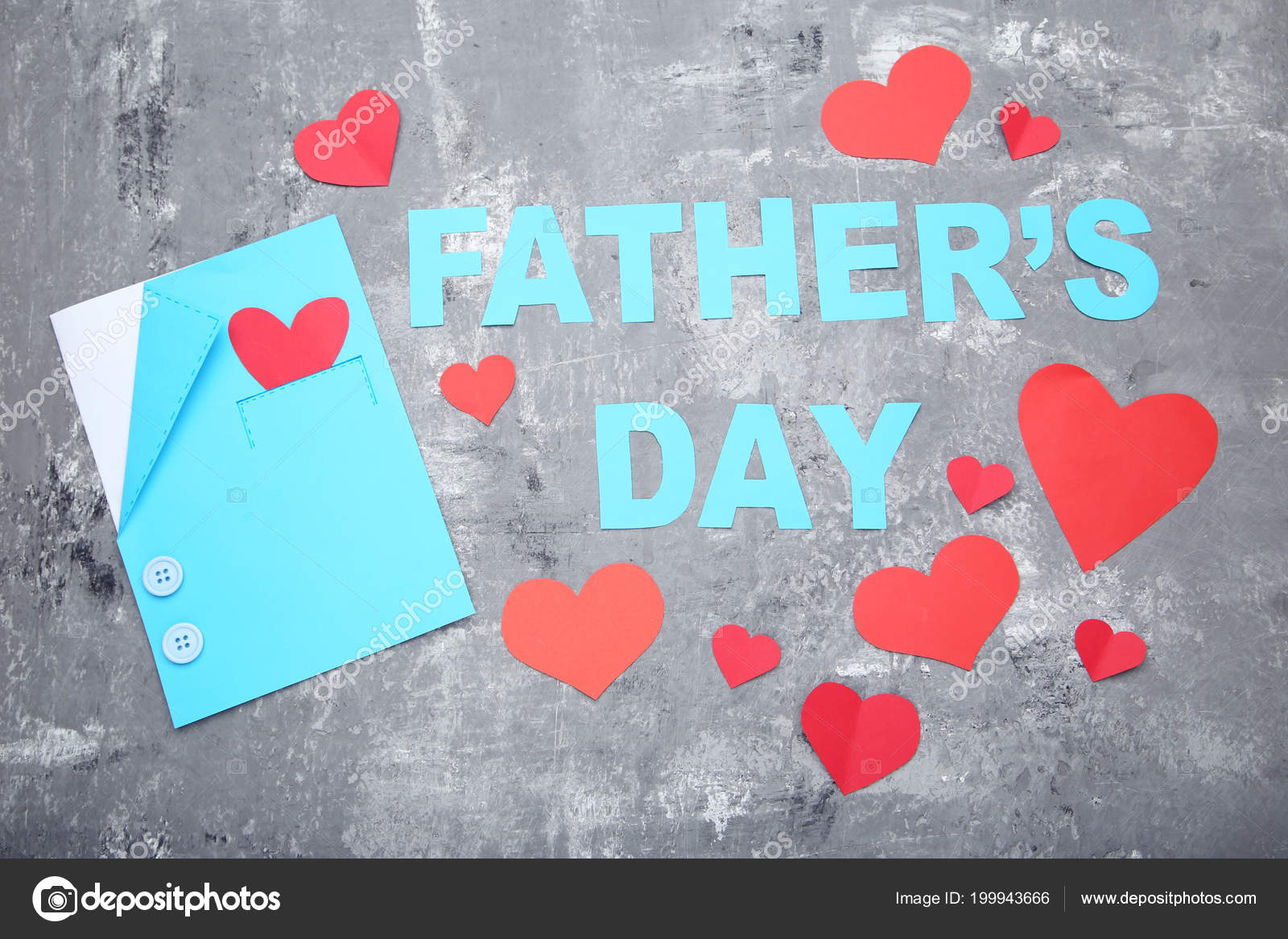 Colorful Background Inscription Fathers Day Decorations Concrete
