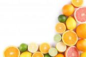 citrusfélék elszigetelt fehér background