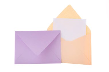 Colorful paper envelopes isolated on white background stock vector