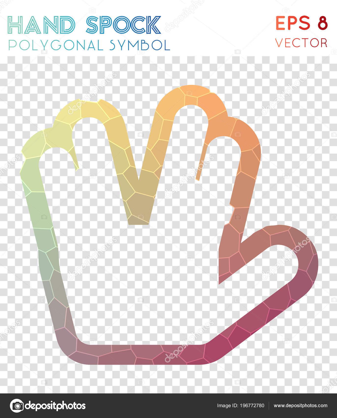 Hand Spock O Polygonal Symbol Appealing Mosaic Style Symbol Classy
