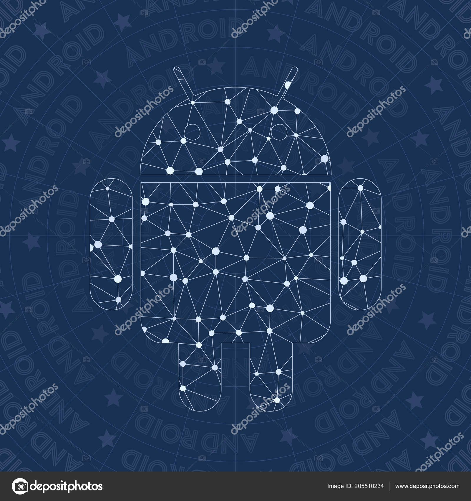 Android network symbol Actual constellation style symbol Charming