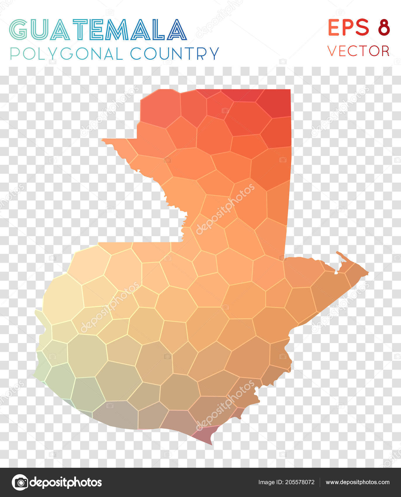 Guatemala Polygonal Map Mosaic Style Country Incredible Low Poly Style  Modern Design Guatemala U2014 Vetores De