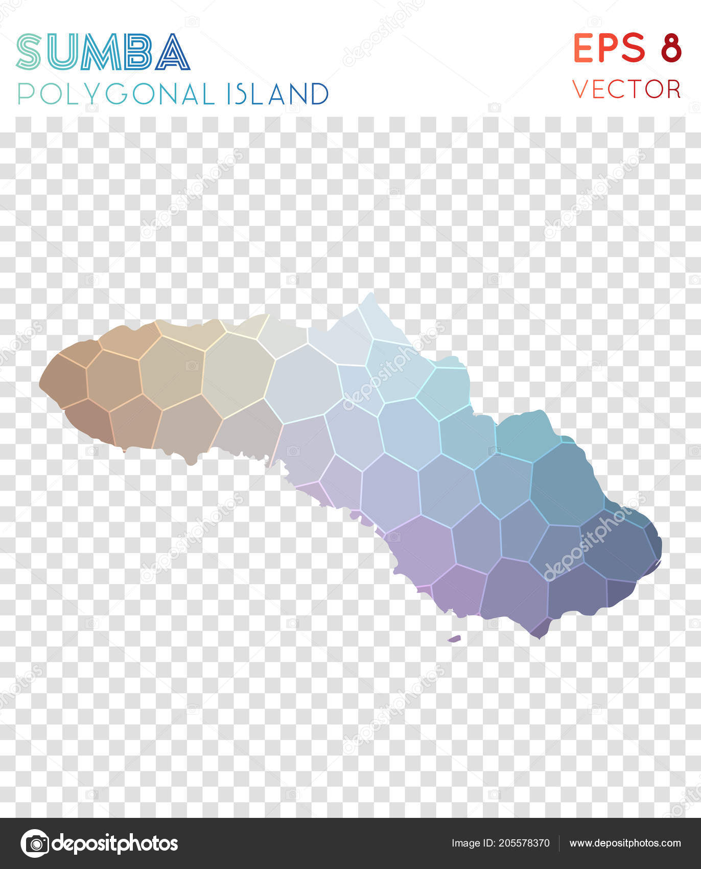Perfekt Sumba Polygonal Map Mosaic Style Island Overwhelming Low Poly Style Modern  Design Sumba U2014 Vetores De