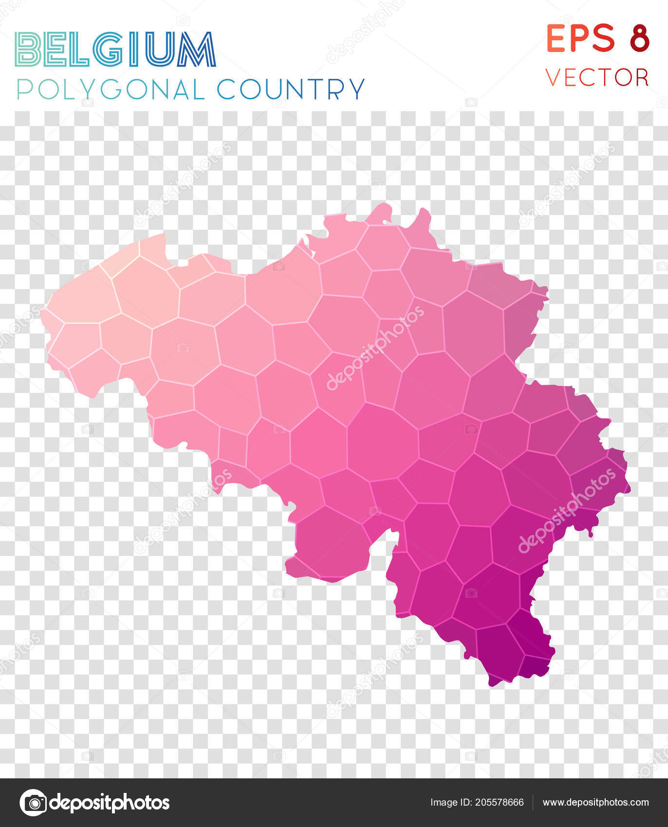 Fantastisch Belgium Polygonal Map Mosaic Style Country Beauteous Low Poly Style Modern  Design Belgium U2014 Vetores De