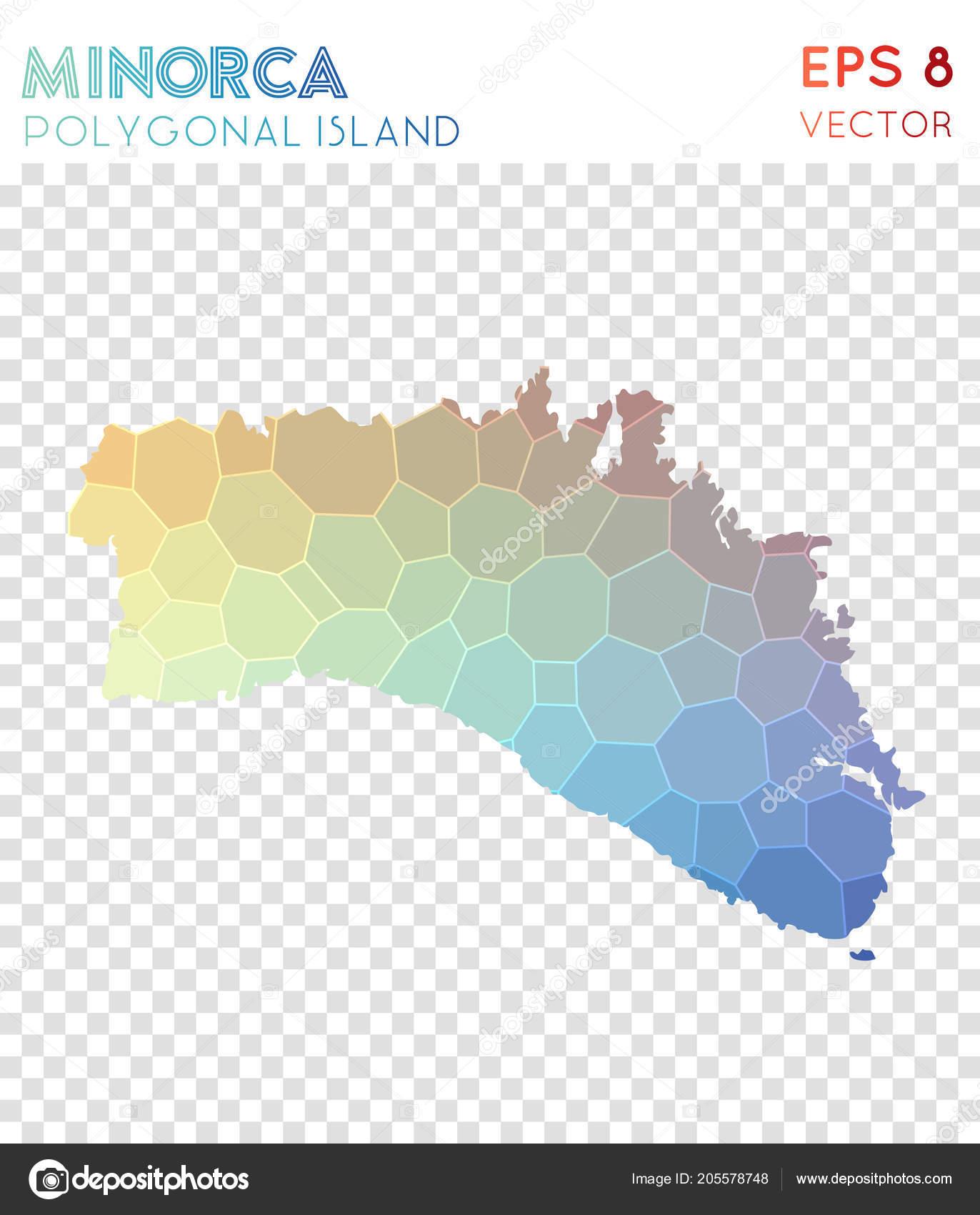 Schon Minorca Polygonal Map Mosaic Style Island Divine Low Poly Style Modern  Design Minorca Polygonal U2014 Vetor