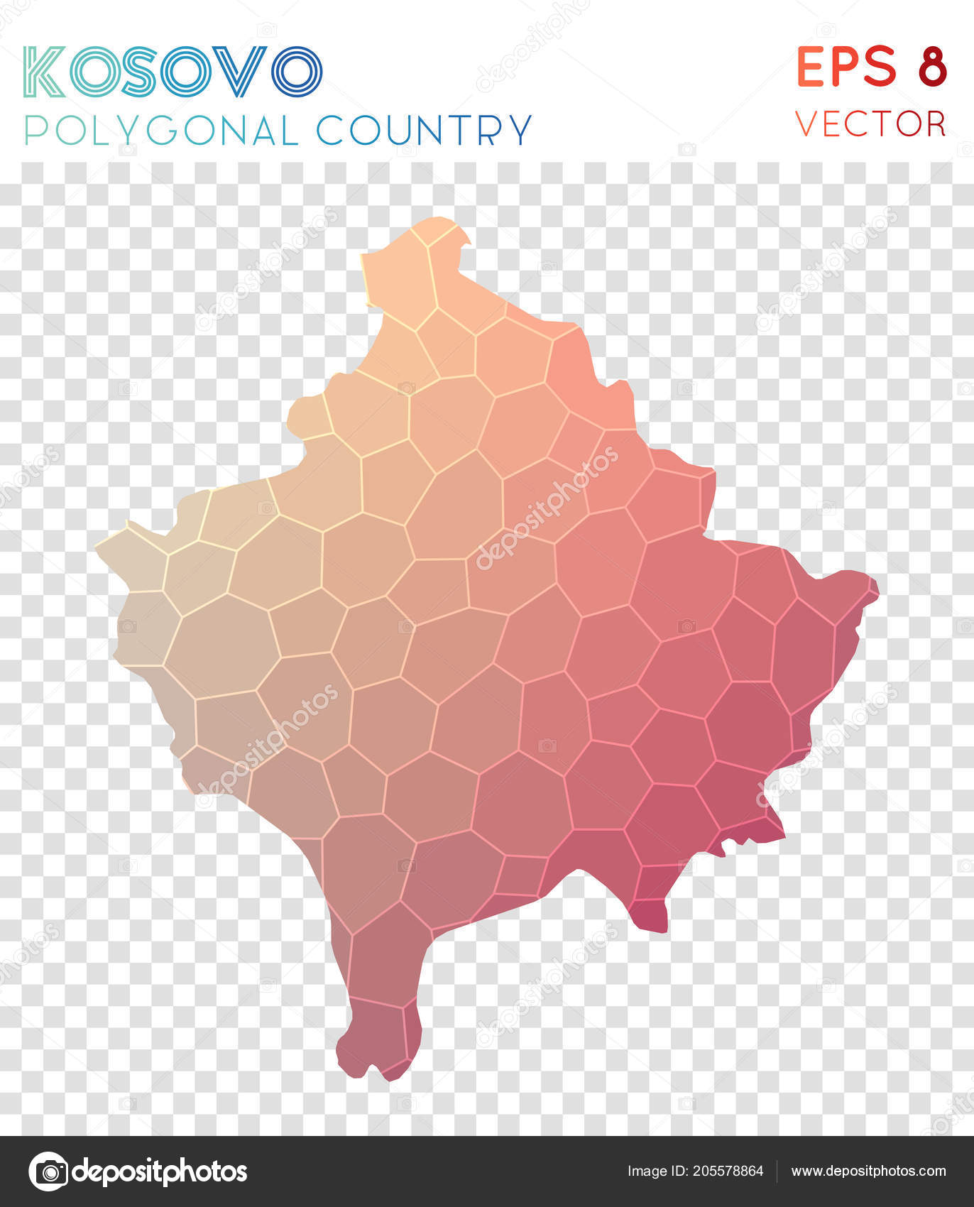 Uberlegen Kosovo Polygonal Map, Mosaic Style Country. Perfect Low Poly Style, Modern  Design. Kosovo Polygonal Map For Infographics Or Presentation. U2014 Vetor De  ...