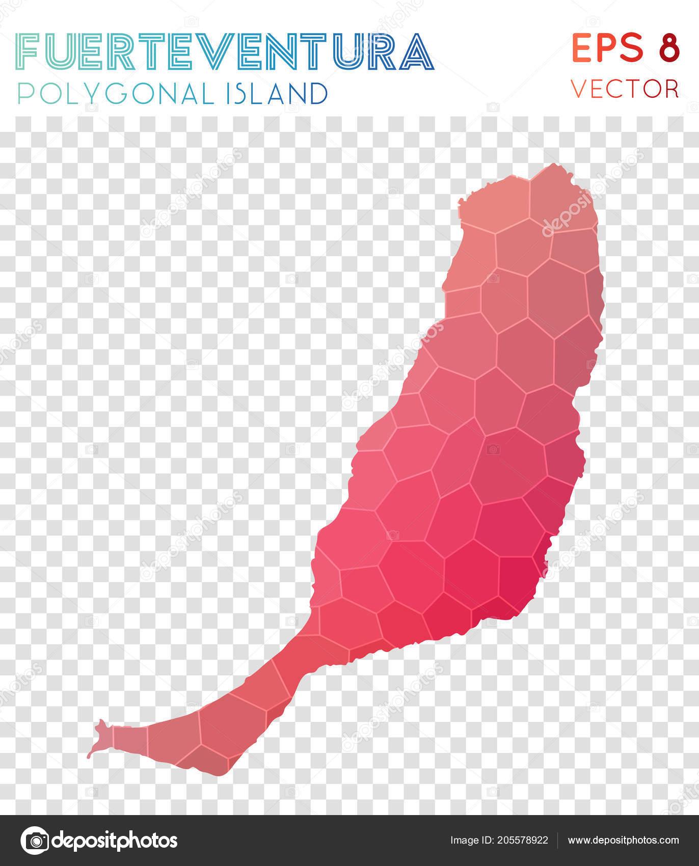 Entzuckend Fuerteventura Polygonal Map Mosaic Style Island Pleasant Low Poly Style  Modern Design U2014 Vetores De Stock