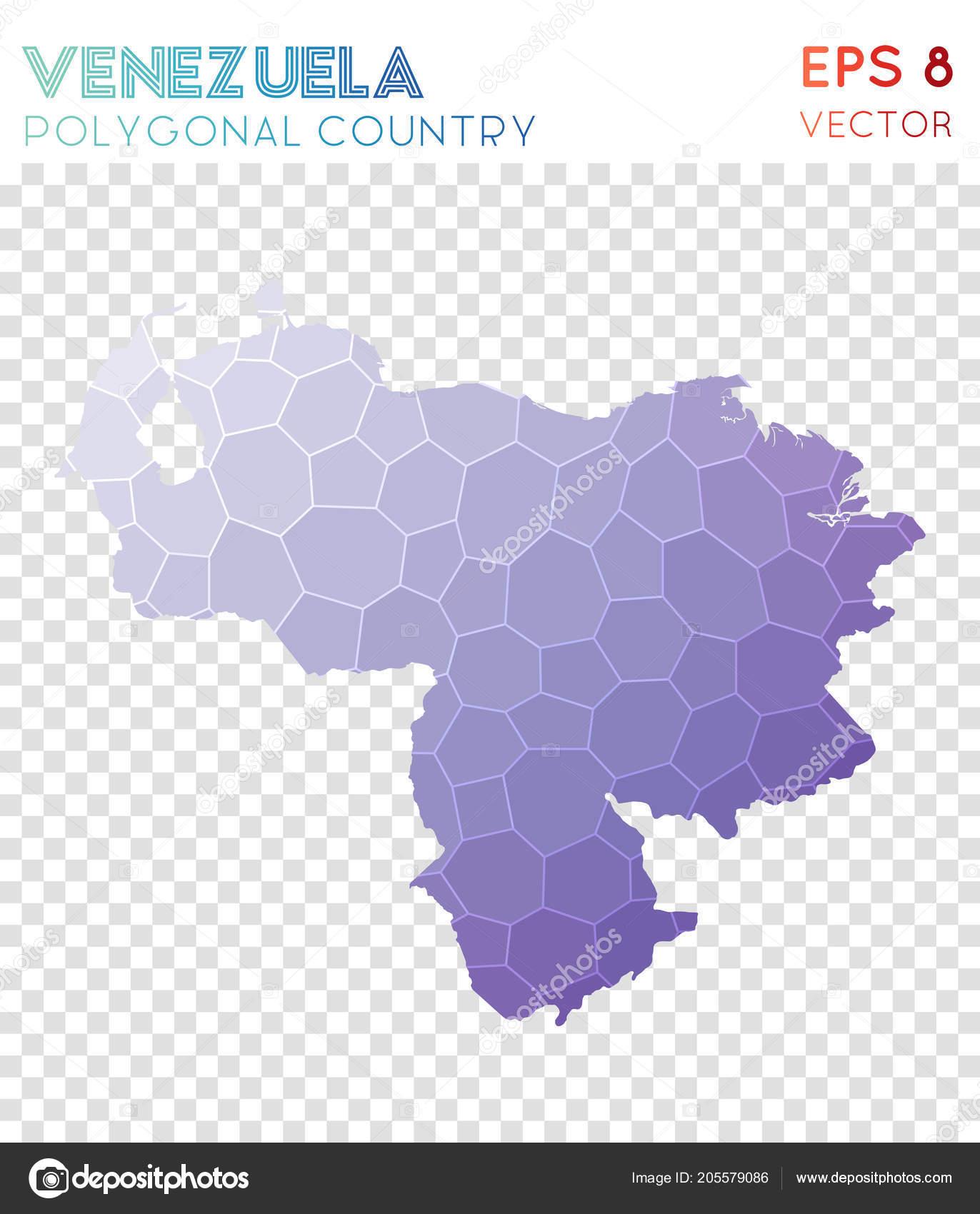 Venezuela Polygonal Map Mosaic Style Country Fabulous Low Poly Style Modern  Design Venezuela U2014 Vetor De