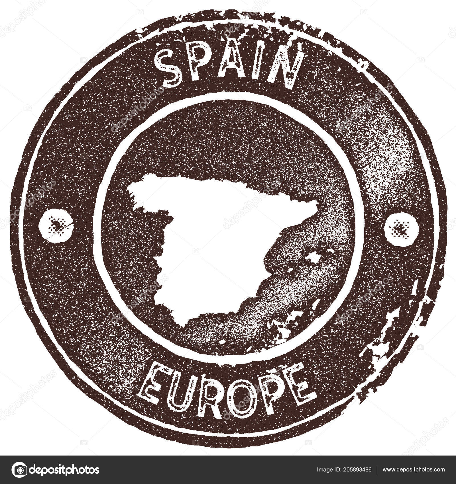 Map Of Spain To Label.Spain Map Vintage Stamp Retro Style Handmade Label Badge Or Element