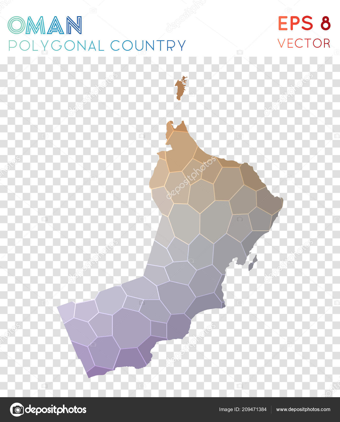Lieblich Oman Polygonal Map, Mosaic Style Country. Wonderful Low Poly Style, Modern  Design. Oman Polygonal Map For Infographics Or Presentation. U2014 Vetor De  Gagarych