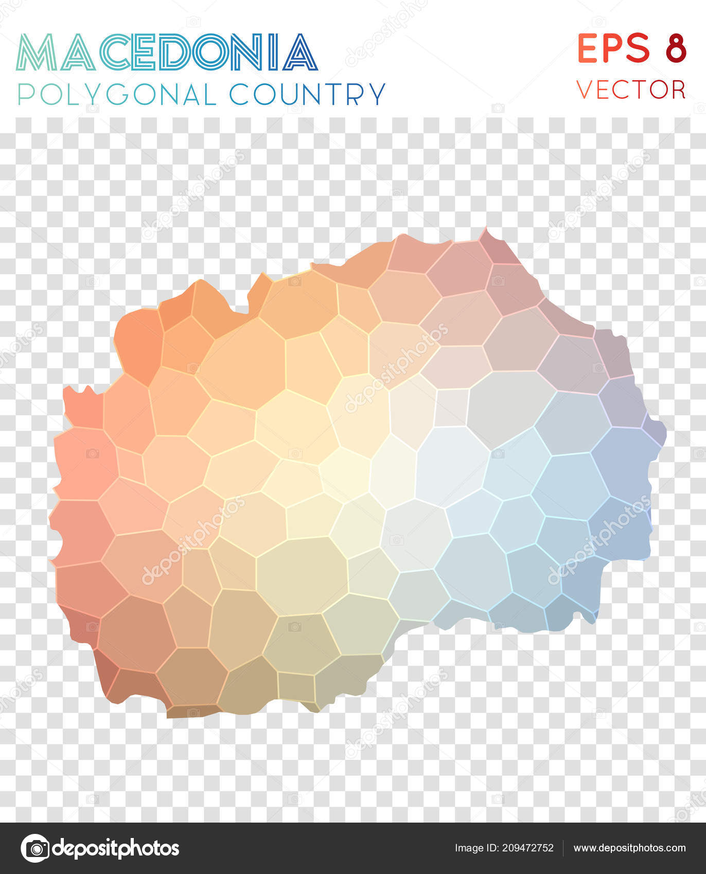 AuBergewohnlich Macedonia Polygonal Map Mosaic Style Country Shapely Low Poly Style Modern  Design Macedonia U2014 Vetores De