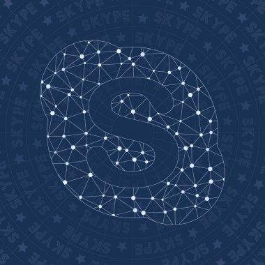 Skype network symbol Amusing constellation style symbol Dramatic network style Modern design