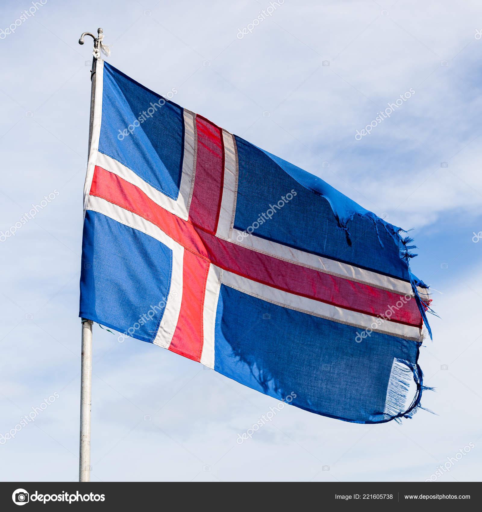 bandera roja y azul con una cruz blanca
