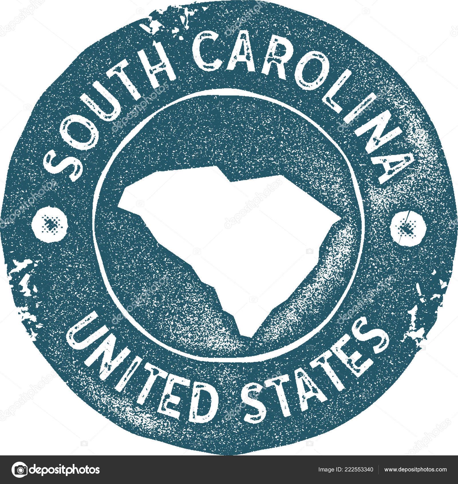 Vintage South Carolina Map.South Carolina Map Vintage Stamp Retro Style Handmade Label Badge Or