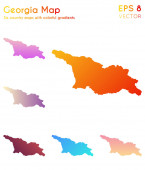 Fotografie Map of Georgia with beautiful gradients Adorable set of Georgia maps Dramatic vector illustration