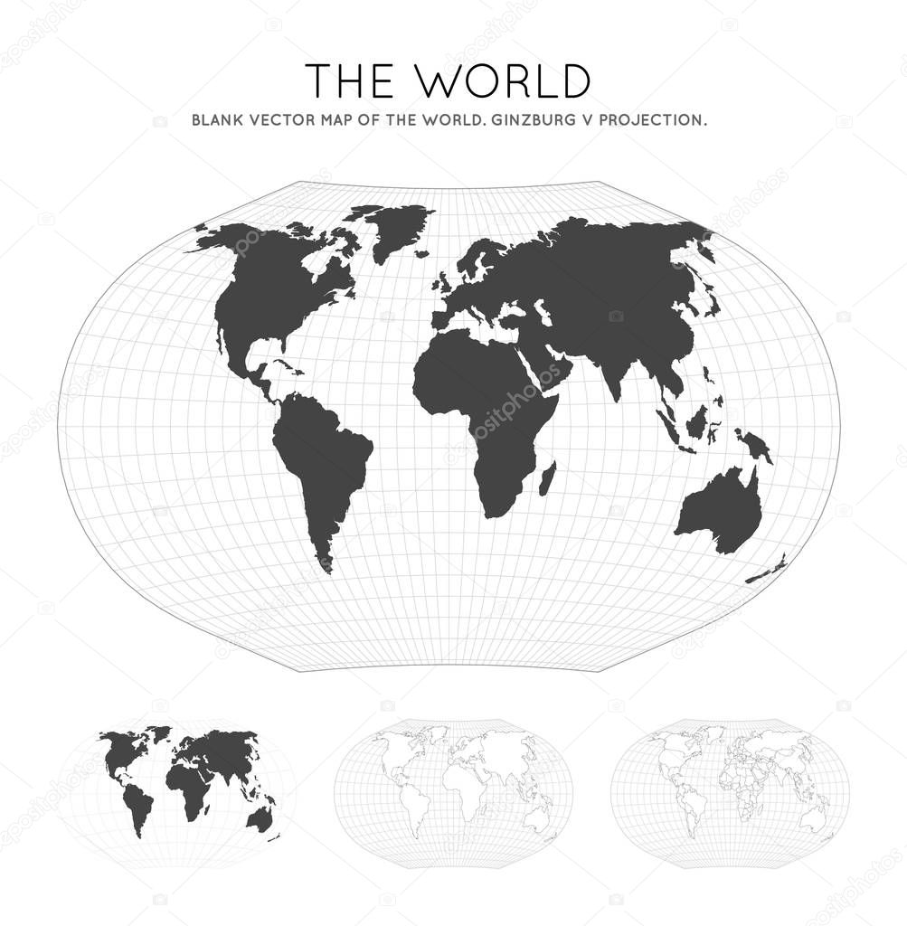 Picture of: Map Of The World Ginzburg V Projection Globe With Latitude And Longitude Lines World Map On Meridians And Parallels Background Vector Illustration Premium Vector In Adobe Illustrator Ai Ai