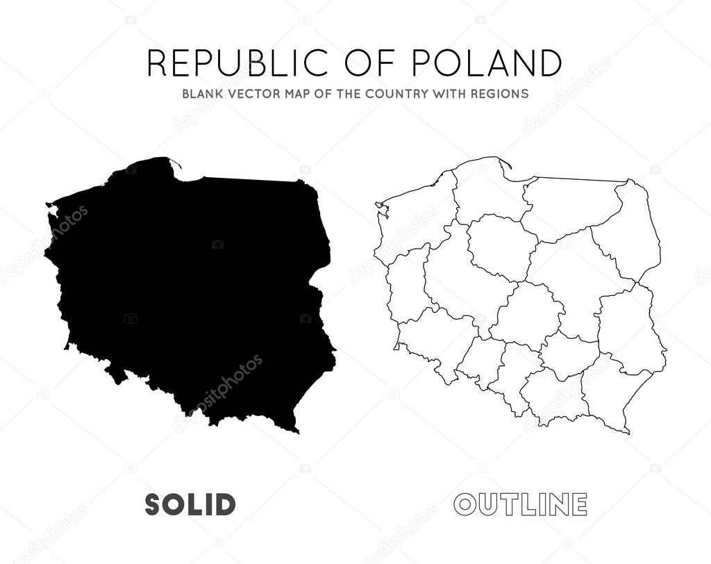 Picture of: Poland Map Blank Vector Map Of The Country With Regions Borders Of Poland For Your Infographic Vector Illustration Premium Vector In Adobe Illustrator Ai Ai Format Encapsulated Postscript Eps Eps Format