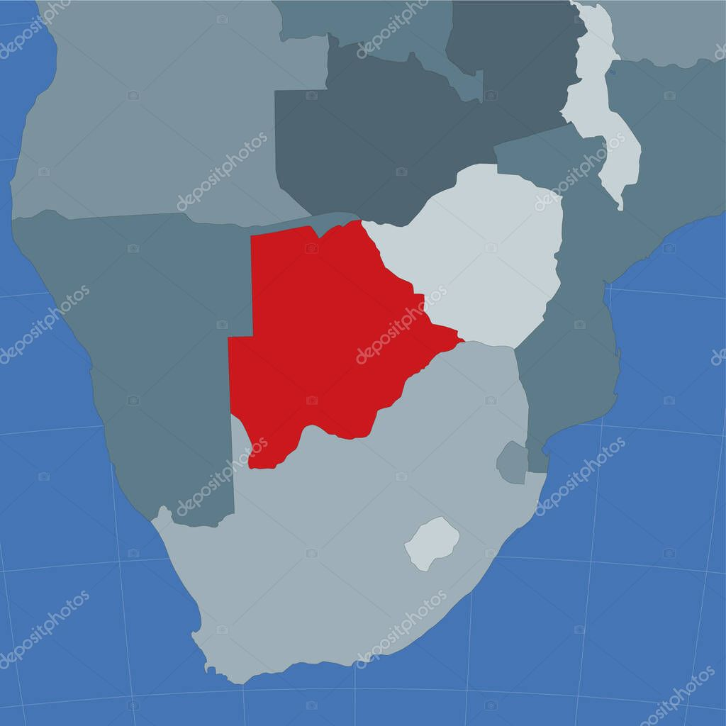 Picture of: Shape Of The Botswana In Context Of Neighbour Countries Country Highlighted With Red Color On World Map Botswana Map Template Vector Illustration Premium Vector In Adobe Illustrator Ai Ai