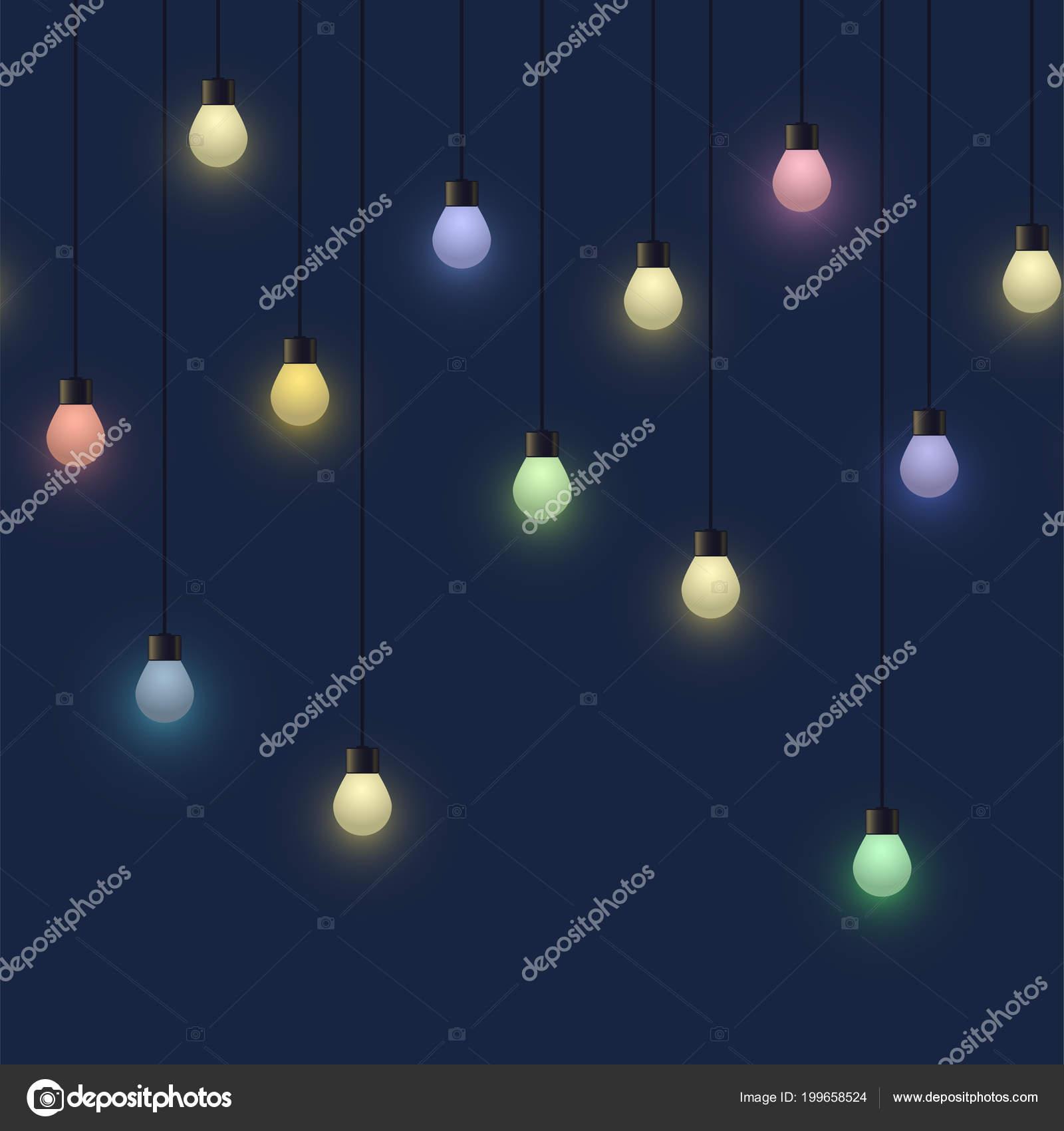Leuchtend Bunte Birne Garland Dekoratives Licht Girlande Auf