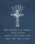 Fényképek Hand drawn drawing of religious Cross symbol and phrase in spanish
