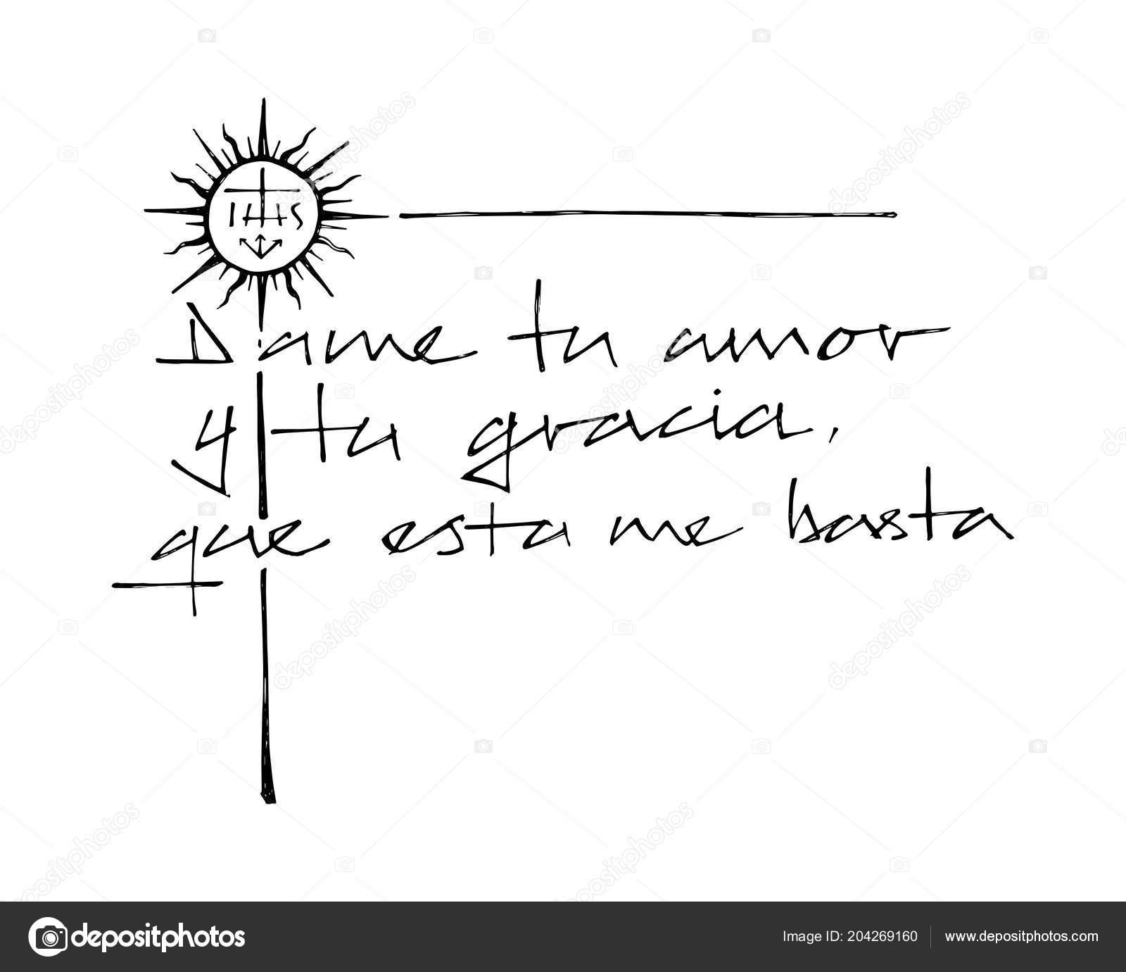 Dibujo Frase Christian Jesuita Espanol Que Significa Dame Amor