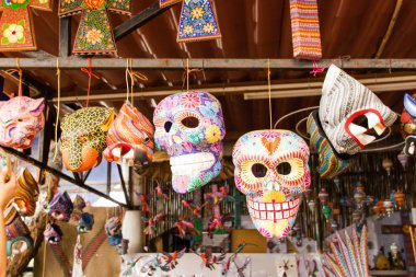 San Antonio Arrazola, Oaxaca / Mexico - 21/7/2018:  (Traditional alebrijes workshop and store in San  Antonio Arrazola Oaxaca Mexico)