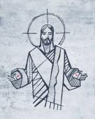 Fényképek Kézzel rajzolt ábra, vagy rajz, Jézus Krisztus nyílt lapokkal