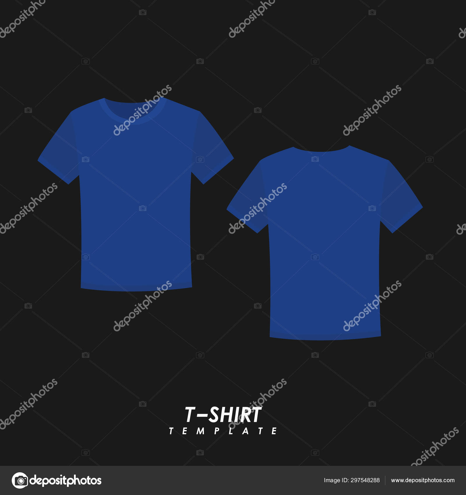 Blank T Shirt Template Stock Vector Esbeauda 297548288