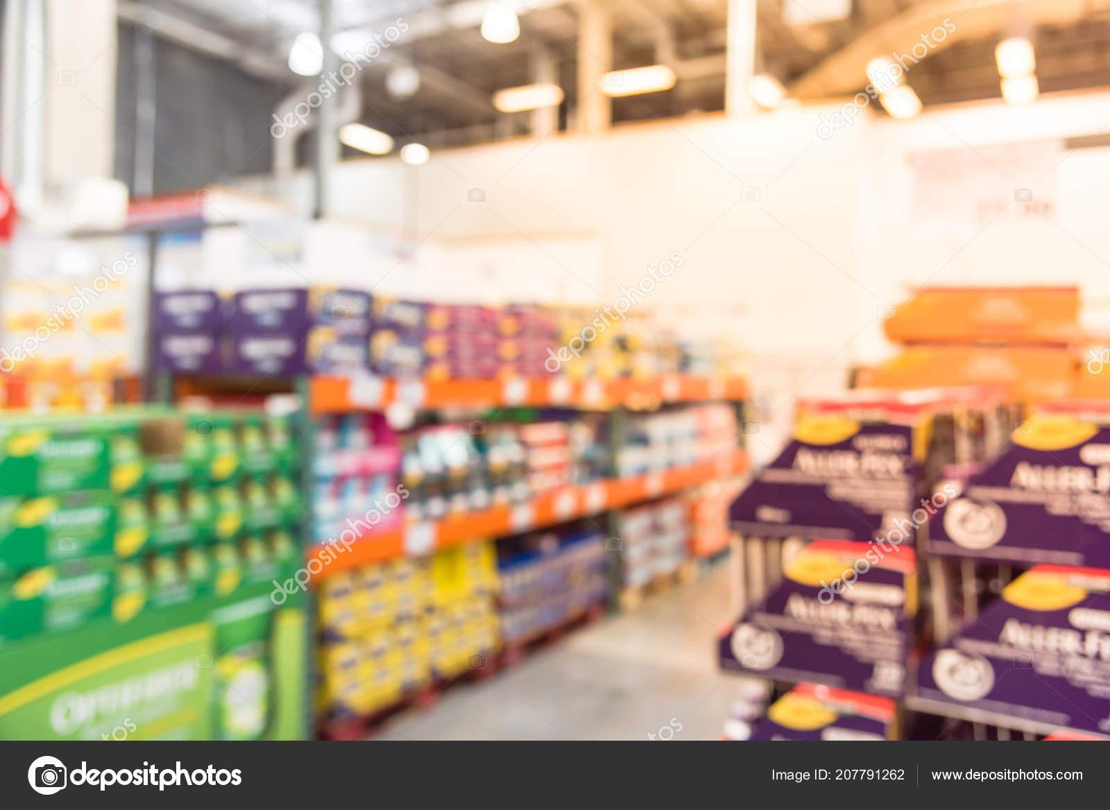 Blurred Image Wholesale Vitamin Shelves Huge Variation