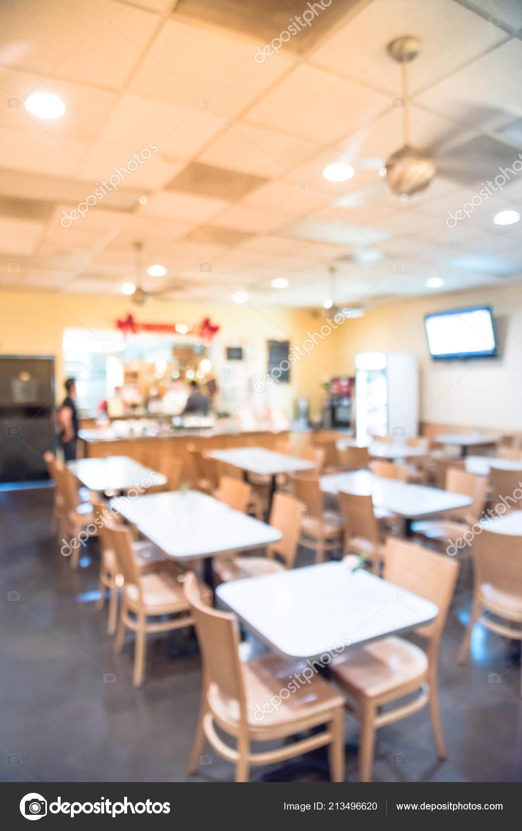 Blurred Interior Express Thai Restaurant Cafe Downtown