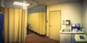 Homályos absztrakt antepartum ellátás szobában kórházi Amerikában