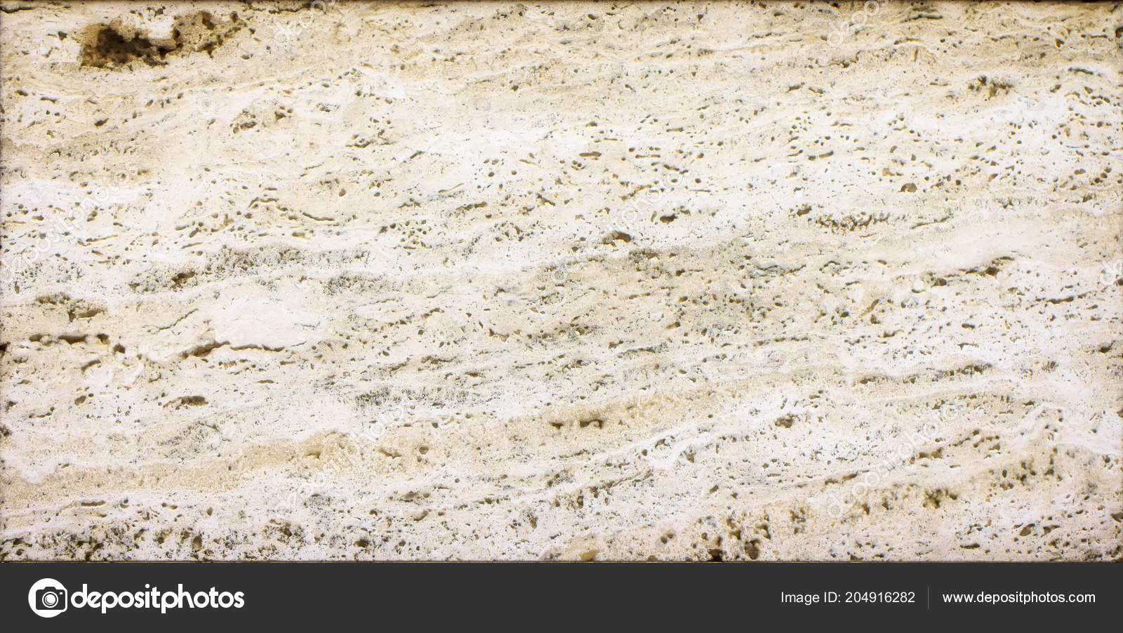 Yellow Texture Of Wild Marble With Brown And White Veins Stock