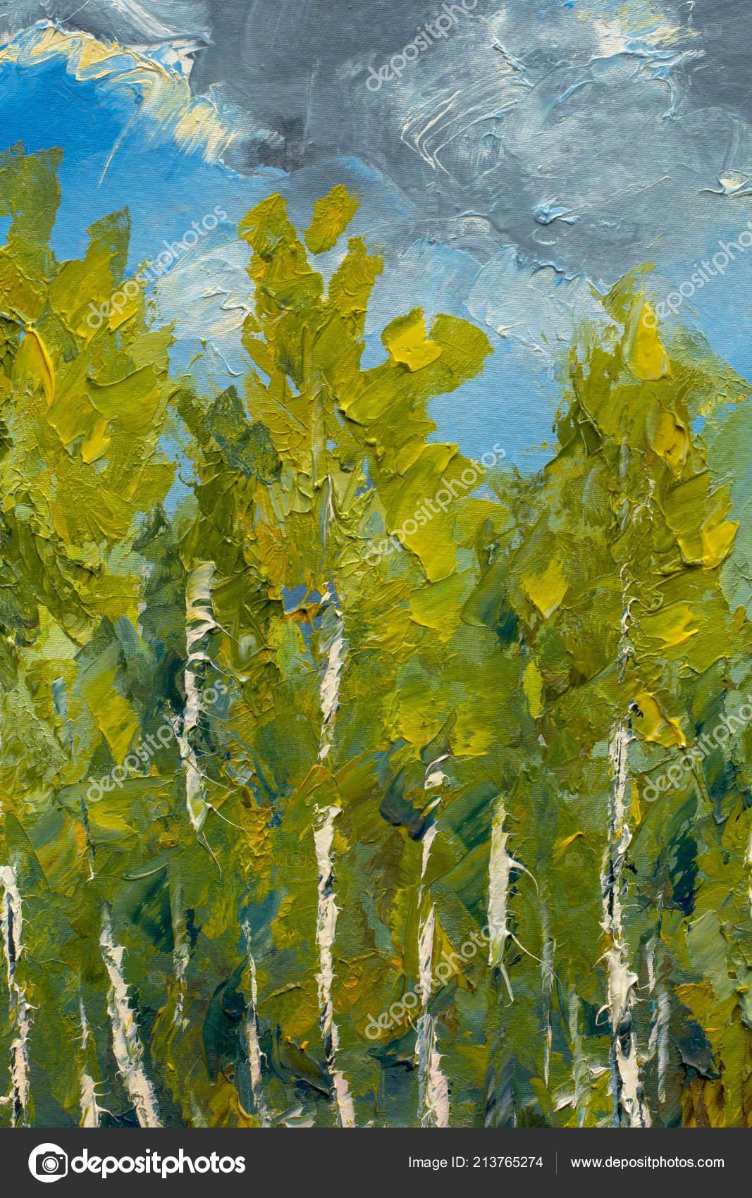 Peinture Moderne Couteau Empâtement Impressionnisme Printemps Nature