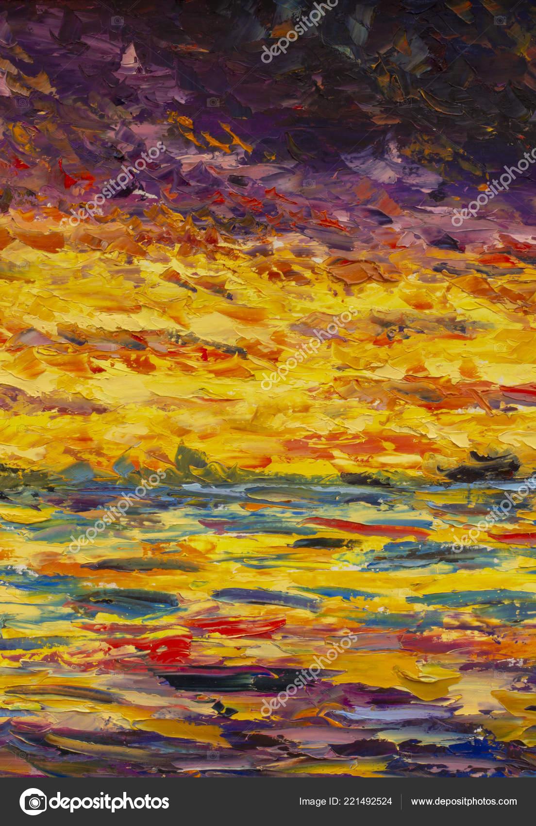 Illustration Peinture Abstraite Rouge Orange Jaune Fragment