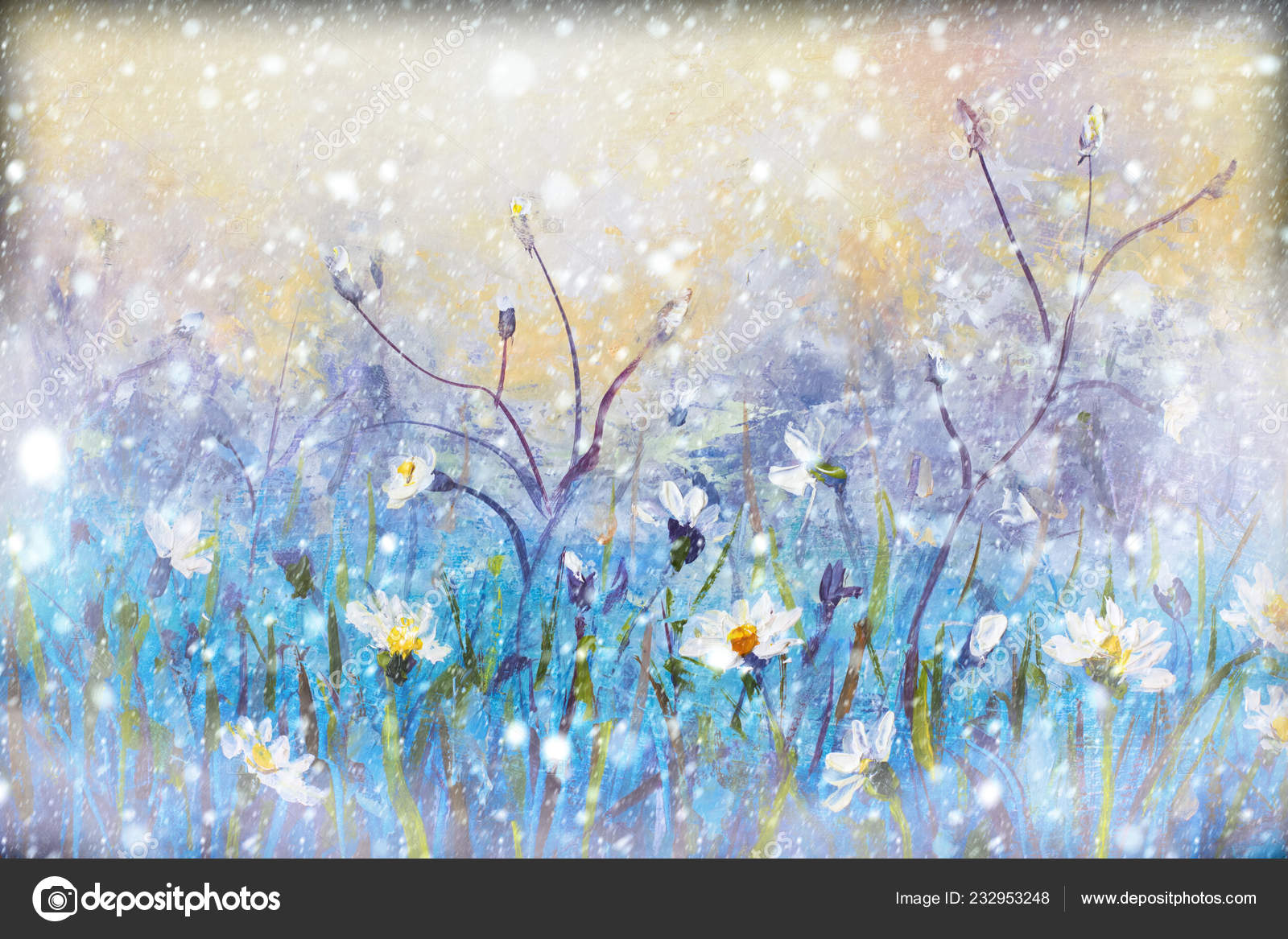 Image result for wildflowers in snow