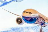Boeing 777-X modell kiállítás a kijelzőn. Oroszország, Moscow region Zhukovsky, repülőtér Ramenskoe. Aviasalon Maks 2019. augusztus 29 2019.